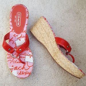 Coach Electra Espadrilles Wedge Sandals